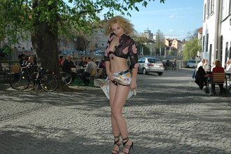 Hot babes showing off their bodies in public