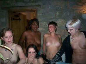 Hot friends get naked during a drinking party