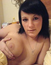 Horny GF shows off her amazing natural breasts