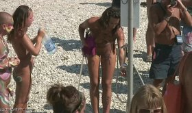 Check out the horny and lustful routine on a sexy naked beach
