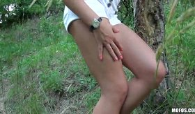 Outdoor video of me stuffing my ex gf's tight vag