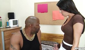 Two kinky gals about to take on big ebony dude