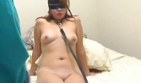 Whore pretending to be blind during amateur sex