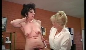 Two mature girlfriends enjoying their lezdom-style affair