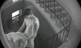 Security cam footage showing a kinky couple fucking