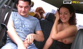 Picking up a cute brunette and getting a blowjob